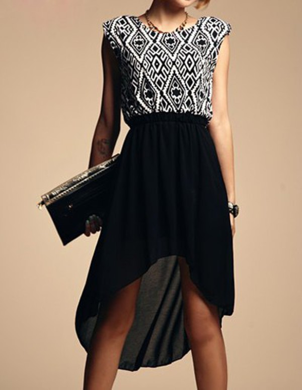 sleeveless dress asymmetrical