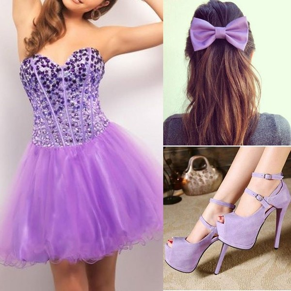 dress prom dress prom party beautiful purple outfit ootd