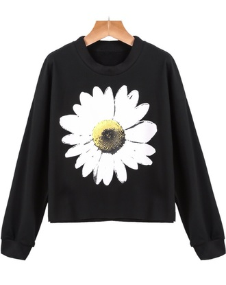 black daisy sweater