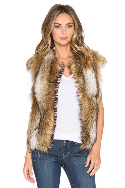 vest fur vest faux fur vest fur faux fur brown