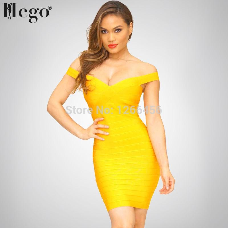 Aliexpress.com : Buy HEGO 2015 New Fashion Sweetheart Neck Yellow ...
