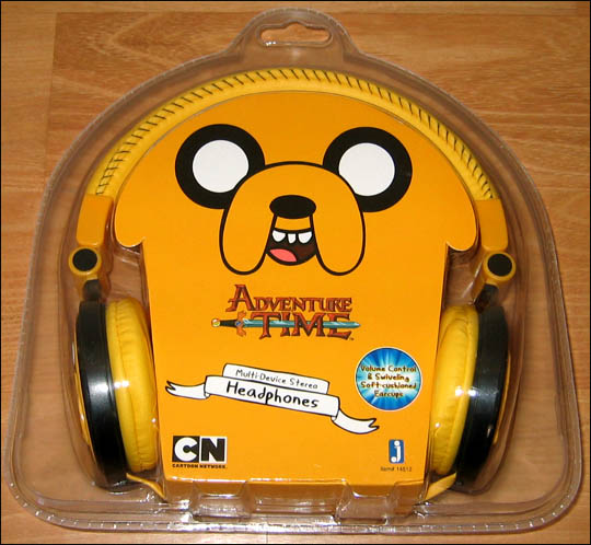 Adventure Time Finn Jake Multi Device Stereo Headphones Cartoon Network Orange | eBay