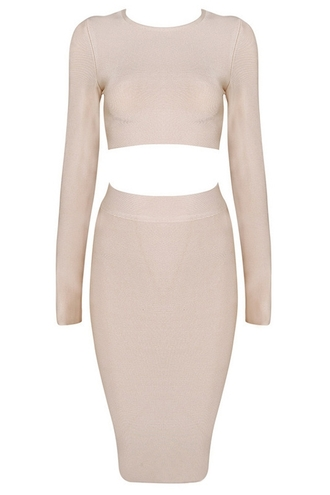 dress zaful two-piece two piece dress set long sleeve top skirt bodycon dress bodycon two piece