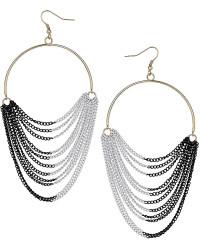 topshop chain drape hoop earrings   Shop Women's topshop chain drape hoop earrings   Lyst