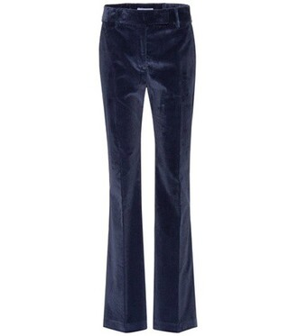 cotton blue pants