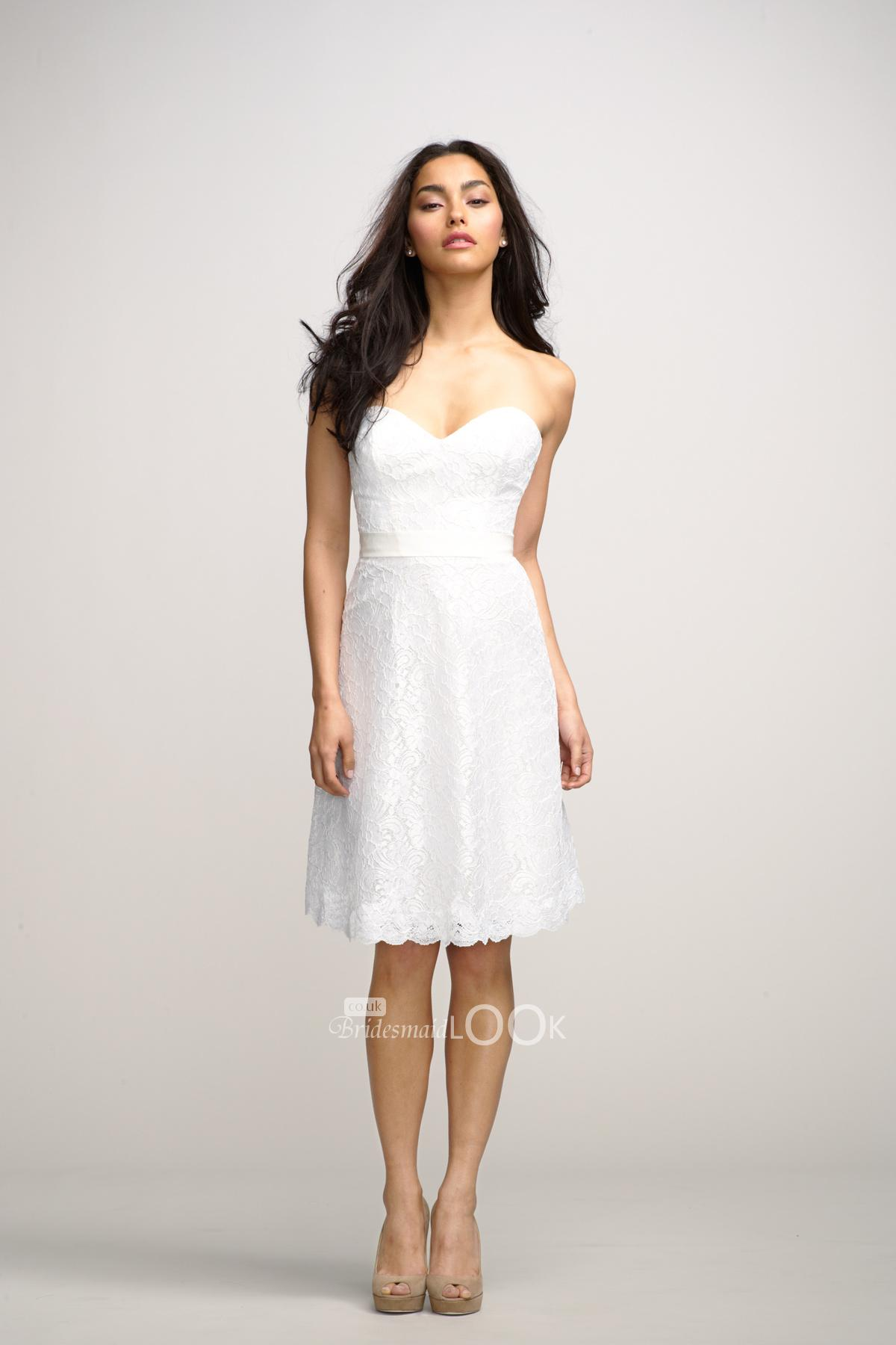 gorgeous Dresses: little white lace bridesmaid dress with sweetheart neckline picture id 35674 White Lace Dress Plus Size, White Lace Dress Short, White Lace Dress H&m ~ yopeey.com
