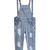 Blue Strap Ripped Pockets Denim Jumpsuits - Sheinside.com