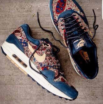 shoes nike nike running shoes nike shoes nike air nike sneakers nike air max 1 colorful print pattern