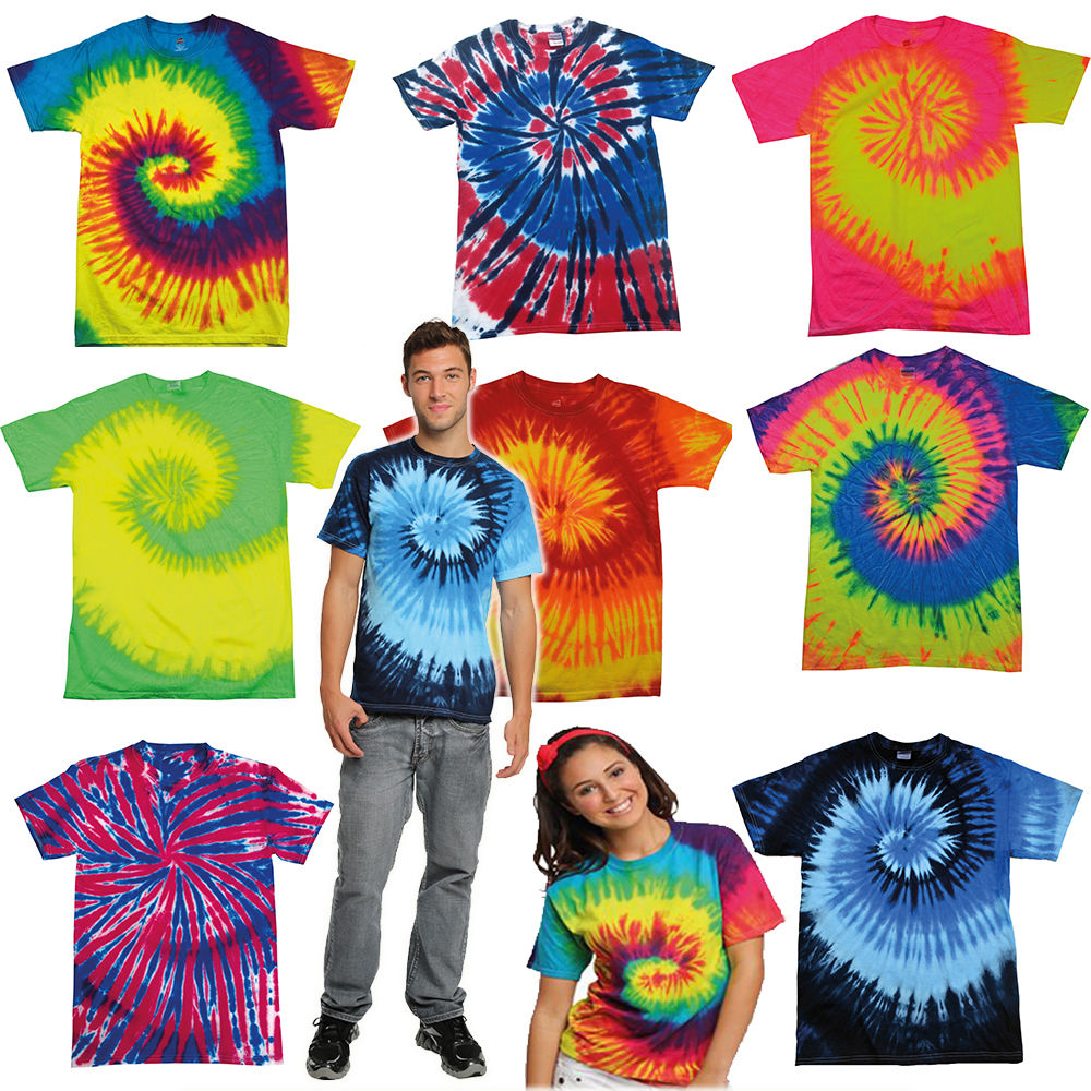 TIE DYE HEAVY WEIGHT T SHIRT ★ Rainbow Festival Shirts Tye tees tee t-shirts top | eBay