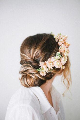 hair accessory flowers hair flower hair flowers orange flowers bun beauty hair jewelry beauty hair wedding hairstyles