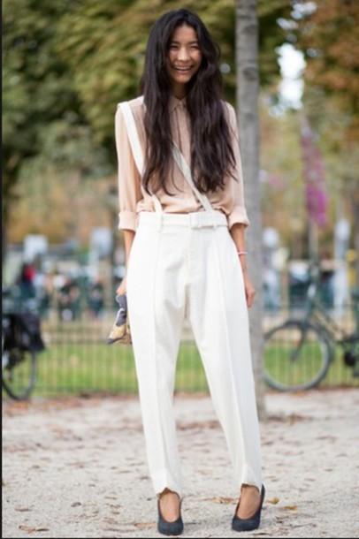 pants pants top pink top