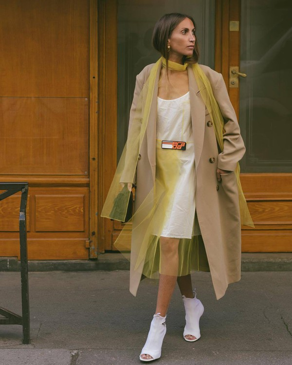 dress midi dress tulle dress satin dress white sandals high heel sandals coat trench coat oversized