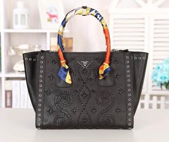 bag prada tote bag women handbags genuine leather