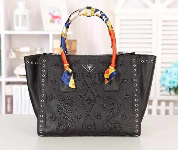 bag tote bag women handbags prada bag genuine leather