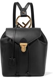 backpack,leather backpack,leather,black,bag