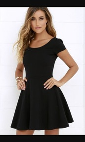 dress,matte dress,black dress,skater dress,sleeveless dress,casual dress,plain dress