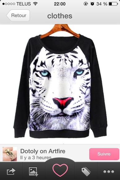 t-shirt tiger sweater