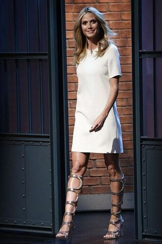 shoes sandals gladiators heidi klum dress