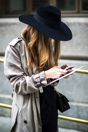 le fashion,blogger,fedora,trench coat