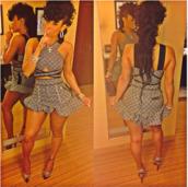 dress,print,straps,keyshia kaoir,shirt,skirt,bodycon dress,bodycon,two-piece,two piece dress set