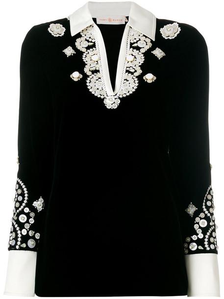 Tory Burch tunic women spandex black top