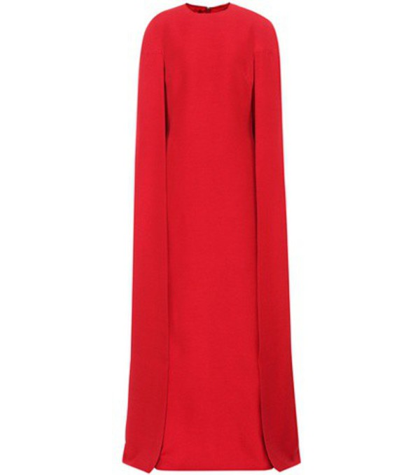 Valentino Wool and silk dress in red