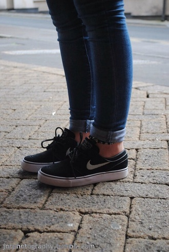 shoes nike nike shoes black blair black nike janoskis janoski's janoskis black trainers