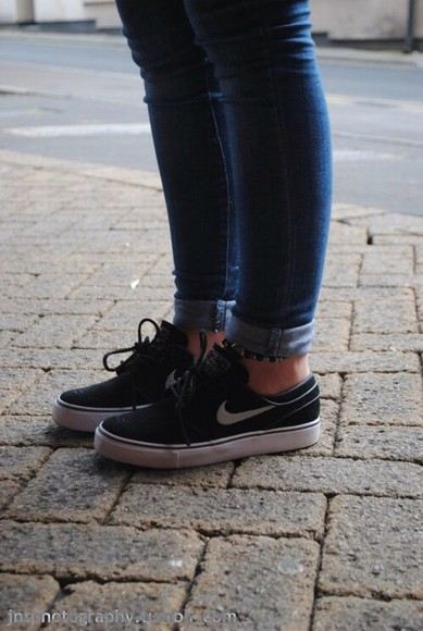 blair shoes nike black nike janoskis janoski's janoskis black trainers black