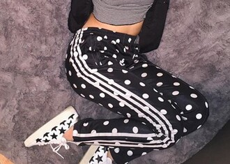 pants polka dots stripes black white adidas black and white jeans shoes stars ripped jeans denim trendy