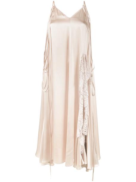 Y / Project dress slip dress silk slip dress women lace nude silk beige