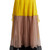 Colour-block silk-crepon maxi skirt