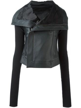 jacket biker jacket knit black