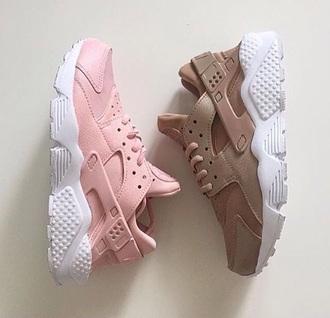 nike nike sneakers huarache pastel sneakers nude sneakers pink sneakers