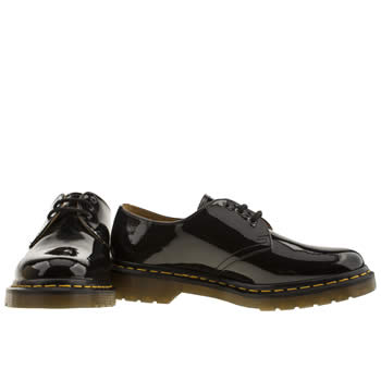 Womens Black Dr Martens 1461 Shoe Patent Shoes | schuh