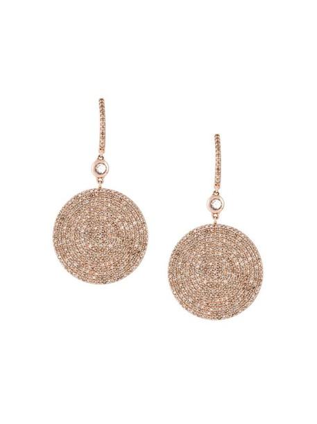 Astley Clarke rose gold rose women earrings gold grey metallic jewels