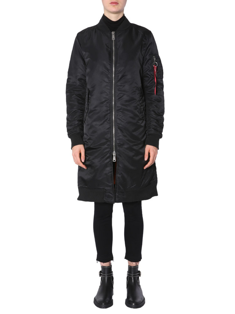 Alpha Industries Ma-1 Long Bomber in nero