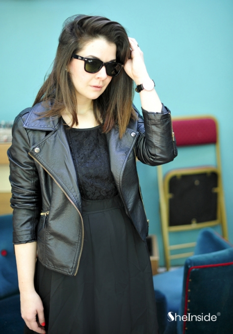 2013 Fashion New Black Zipper Jacket - Sheinside.com