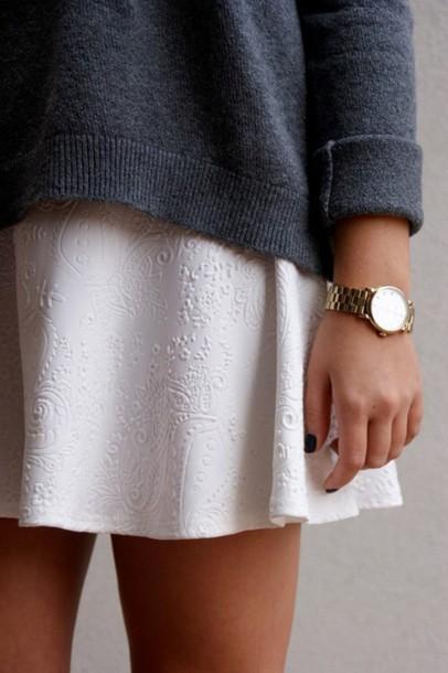 jewels gold watch bijoux skirt