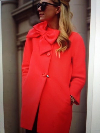 coat red coat bow coat trench coat