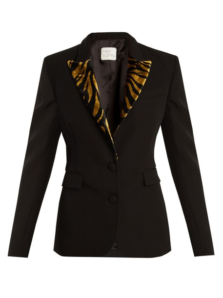 blazer wool gold black jacket