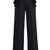 Ruffle-trimmed high-rise trousers