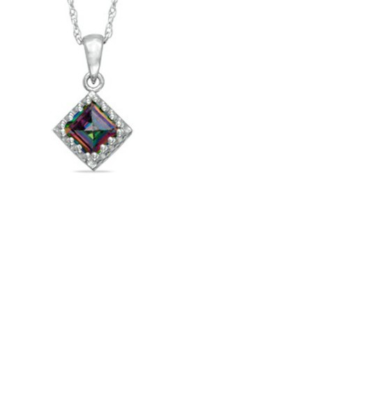 colorful jewels diamonds necklace rainbow
