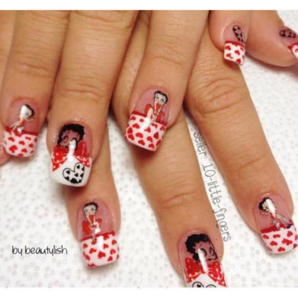 betty nail polish french manciure pedicure decoration nail accessories nail art nails art betty boop cute girly Nails
