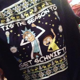 sweater rick and morty cartoon funny christmas tacky ugly christmas sweater