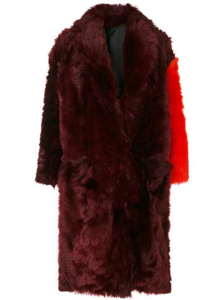CALVIN KLEIN 205W39NYC coat fur women red