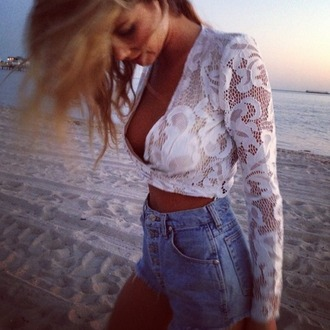 top white crop tops white top lace intimates