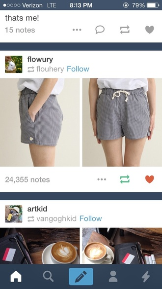 shorts black and white tie cute tumblr shorts