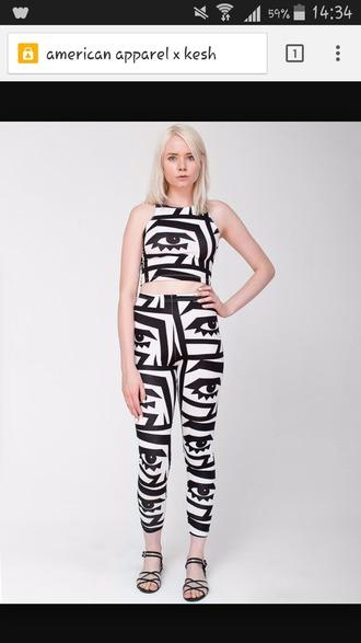 american apparel kesh optical jumpsuit