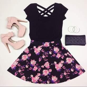 top shoes bag skirt