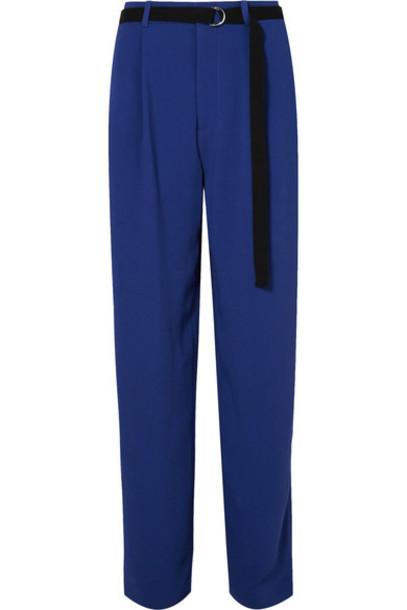 Joseph pants wide-leg pants blue bright